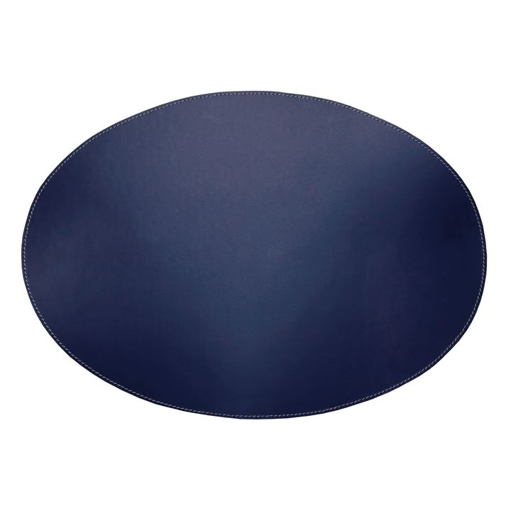 Placemats læder oval - navy 1 stk.  <!--@Ecom:Product.DefaultVariantComboName-->