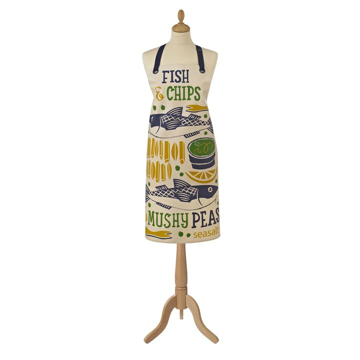 Ulster Weavers Forklæde Oil Cloth Apron - Fish & Chips <!--@Ecom:Product.DefaultVariantComboName-->