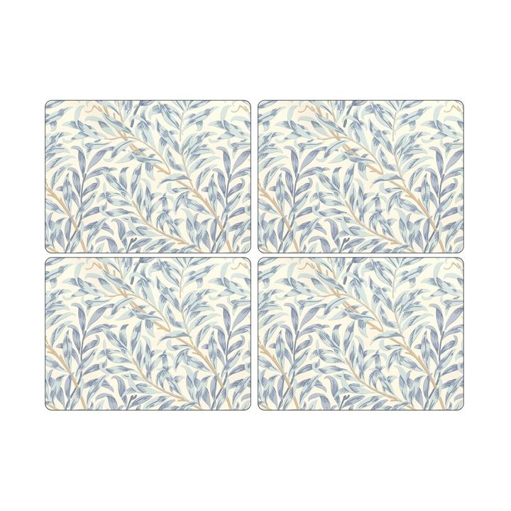 Placemats ´Willow Boughs Blue´ Large 4 stk. i æske. <!--@Ecom:Product.DefaultVariantComboName-->