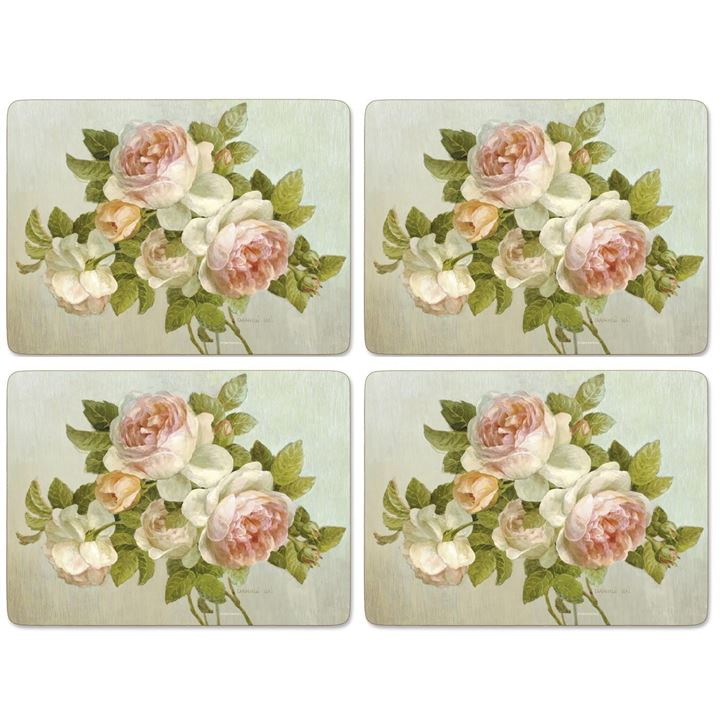 Placemats ´Antique Rose´ Large 4 stk. i æske <!--@Ecom:Product.DefaultVariantComboName-->
