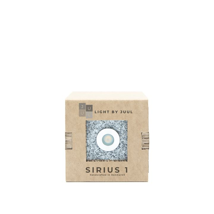 Granit Earl Grey Chaussesten m/ Sirius lampe 1W Light By Juul <!--@Ecom:Product.DefaultVariantComboName-->